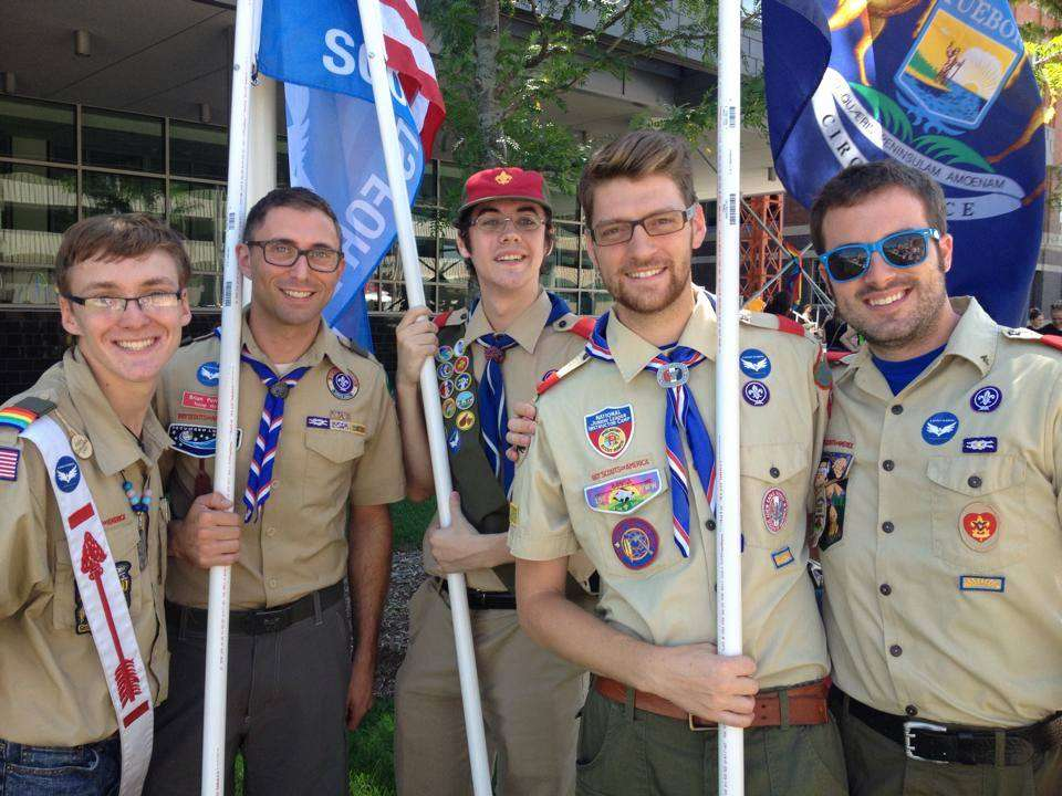 Michigan Pride - Eagle Scouts stand together